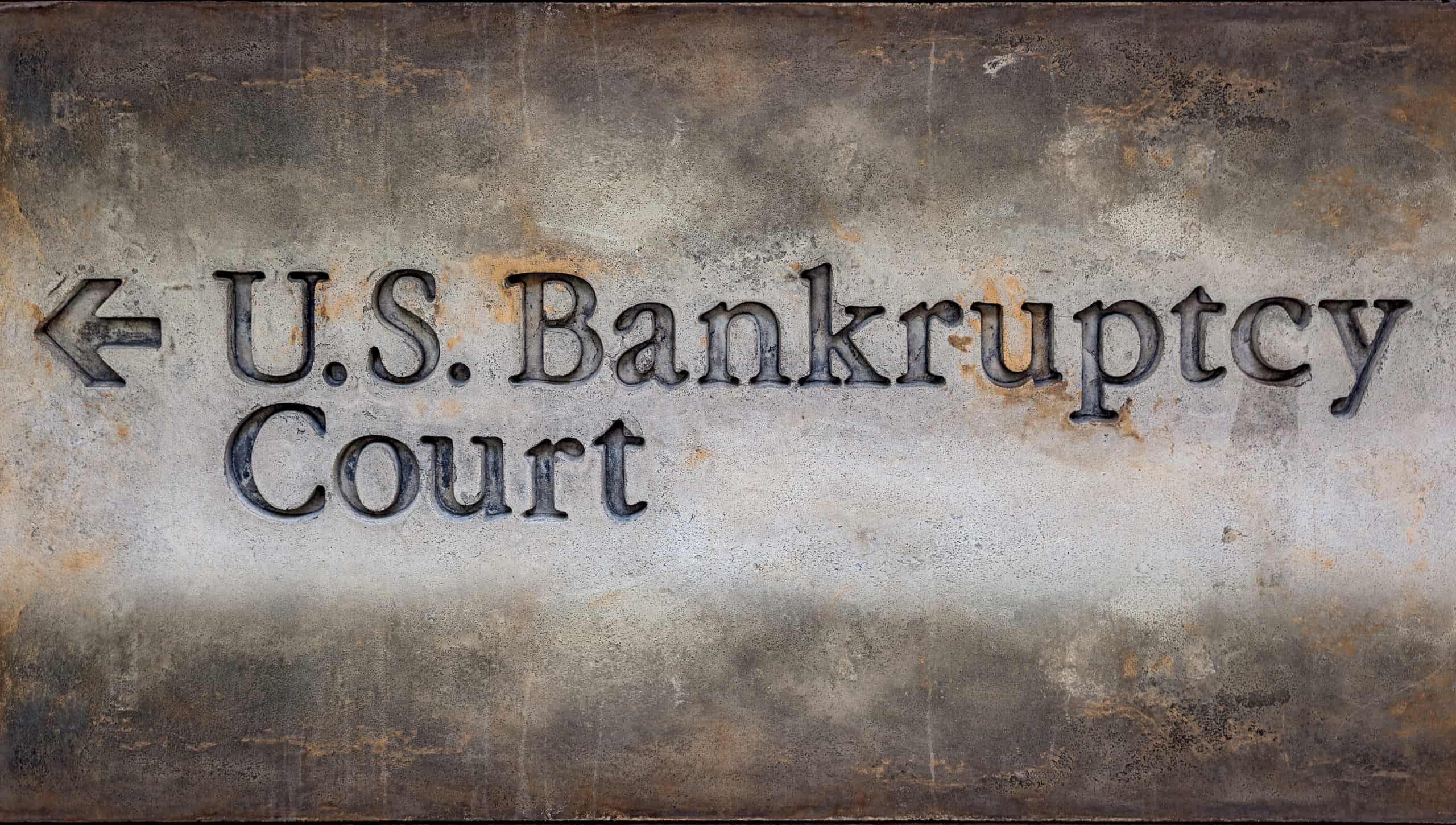signpost. bankruptcy helps people who can no longer pay their debts