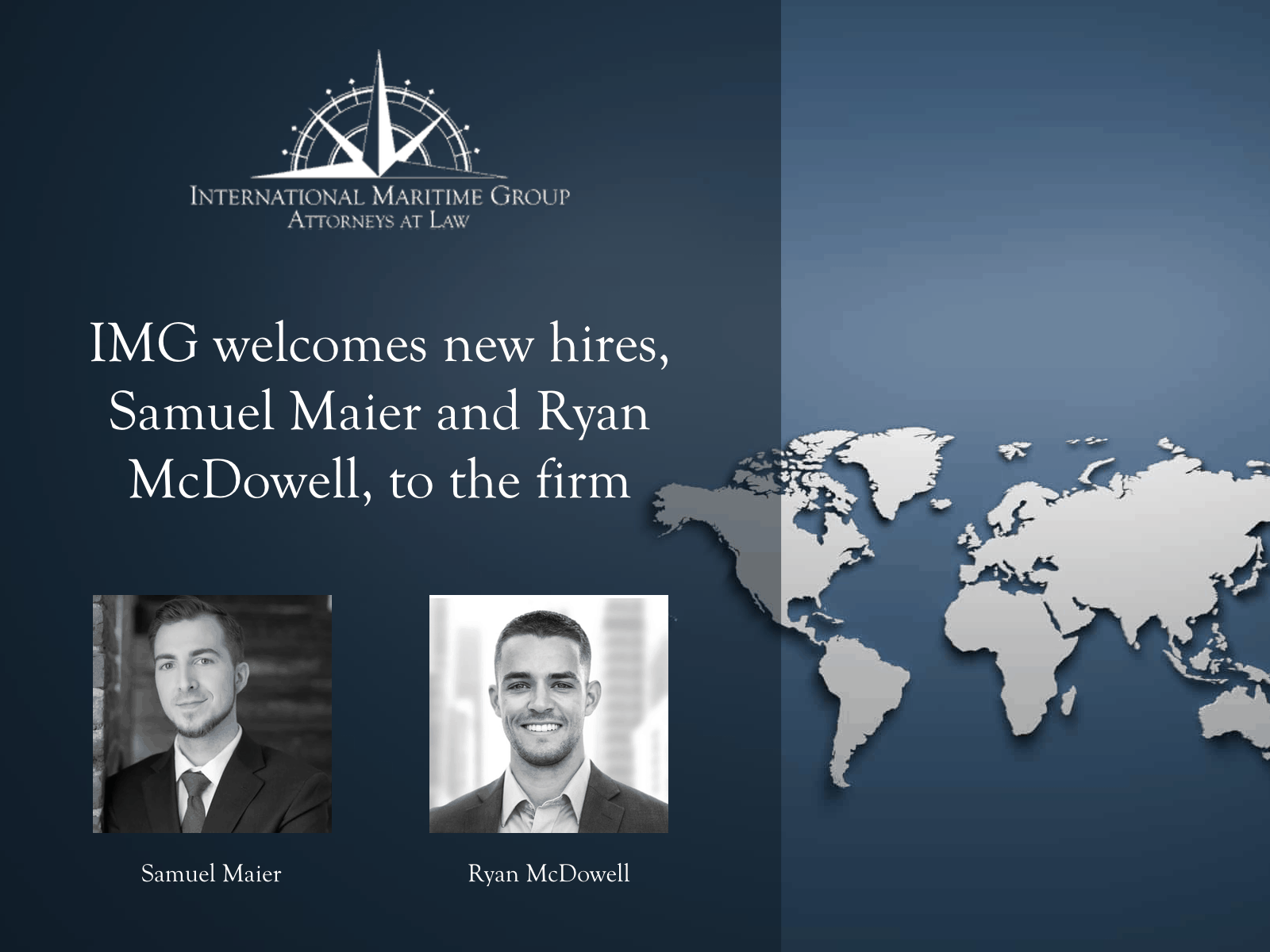 IMG welcomes new hires, Samuel Maier and Ryan McDowell, to the firm